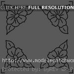 modèle patchwork fleur